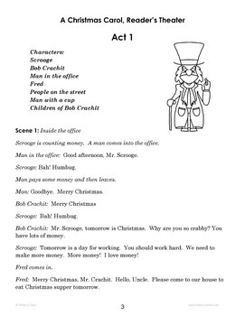 A Christmas Carol Reader's Theater, Discussion Questions and Test ...