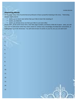 A Christmas Carol Reading Guide