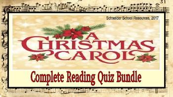 A Christmas Story Quizzes.A Christmas Carol Reading Quiz Bundle