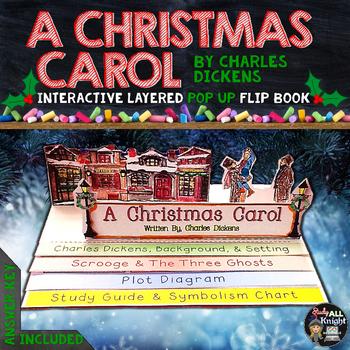 a christmas carol literature guide reading writing pop up flip book rh teacherspayteachers com A Christmas Carol Book Cover A Christmas Carol eNotes