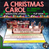 A CHRISTMAS CAROL LITERATURE GUIDE, READING, WRITING, POP UP FLIP BOOK
