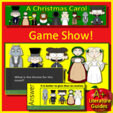 A Christmas Carol Review Game 7th grade HMH Collections Textbook Jeopardy Style