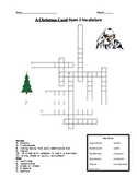 A Christmas Carol Scrooge Stave 2 Vocabulary Crossword Puzzle