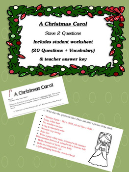A Christmas Carol Stave 2 Questions