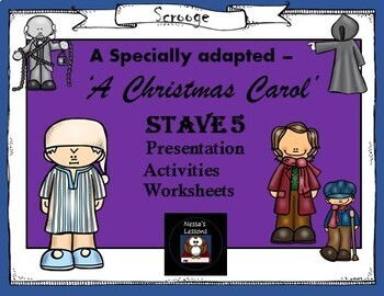 A Christmas Carol Stave 5 complete lesson for foundation level/spec ed.