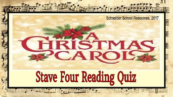 A Christmas Carol: Stave Four Reading Quiz