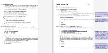 A Christmas Carol, Stave IV & V Common Core Aligned Quiz