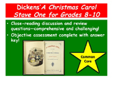 A Christmas Carol Stave One Close-reading Guide and Reading Quiz—Grades 8-10