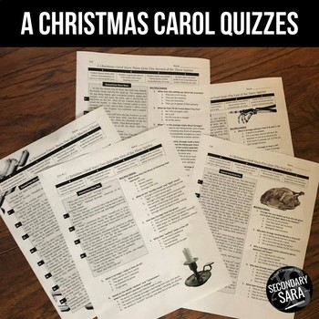 A Christmas Carol: Stave Quizzes with Text-Dependent Questions | TpT