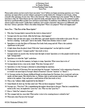 A Christmas Carol Stave Two: A Close Reading Study (9 pages), Answer Keys