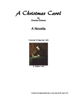 A Christmas Carol Study Guide