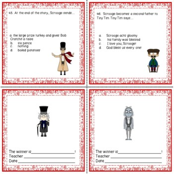 A Christmas Carol Literacy Literature Reading Comprehension Skills No Prep