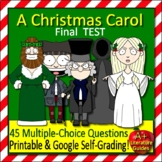 A Christmas Carol Test Print and Go AND Online Self-Grading through Socrative