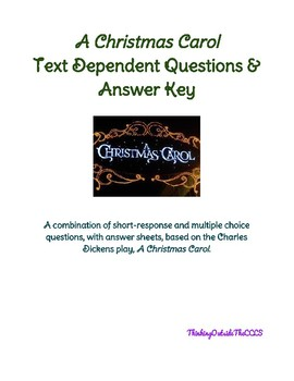 A Christmas Carol Text Dependent Questions & Answers