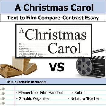A Christmas Carol - Text to Film - Compare & Contrast Essay Bundle