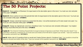 A Christmas Carol: The 50 Point Project