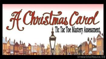 A Christmas Carol: Tic Tac Toe Mastery Assessment