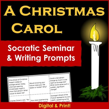 A Christmas Carol Tic-Tac-Toe Writing and Socratic Seminar