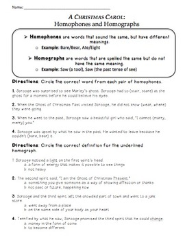 A Christmas Carol Novel Study Activity Sheets
