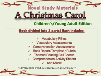 A Christmas Carol Novel Study Activity Sheets