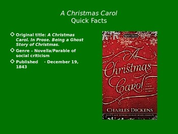 A Christmas Carol Unit PowerPoint