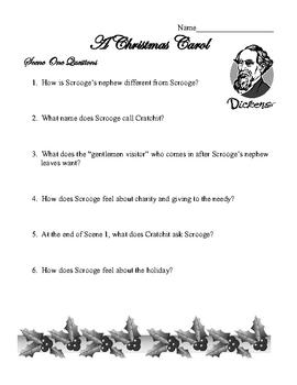 A Christmas Carol Unit Questions