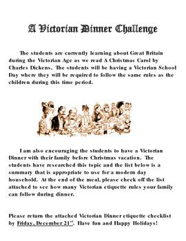 A Christmas Carol Victorian Dinner Challenge