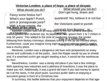 A Christmas Carol - Victorian London