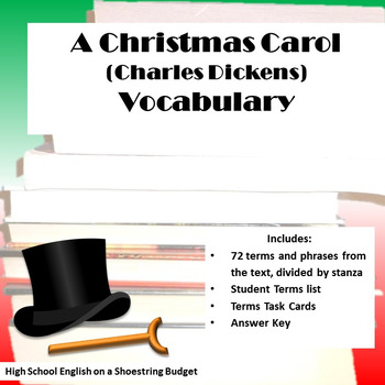 A Christmas Carol Vocabulary Activity (Charles Dickens) by msdickson