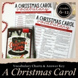 A Christmas Carol Vocabulary: Charts & Answer Key Included