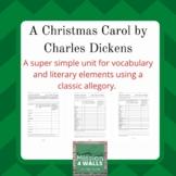 A Christmas Carol Vocabulary and Literary Unit