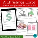 A Christmas Carol Word Cloud Pre-Reading Activity