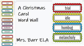 A Christmas Carol Word Wall *Google Slides*