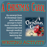 Christmas Activities A Christmas Carol Writing Activity