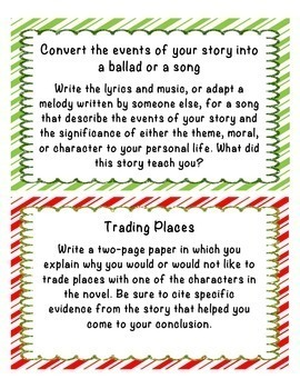 Compare and Contrast Christmas Stories Foldable - A Christmas Carol