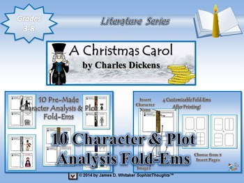 A Christmas Carol by Charles Dickens Character and Plot Analysis Fold-Ems