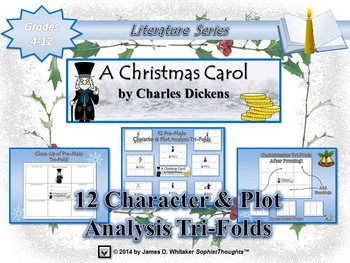 A Christmas Carol by Charles Dickens Character and Plot Analysis Tri-Folds