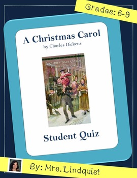 A Christmas Carol by Charles Dickens - Full Book Quiz with Answer Key