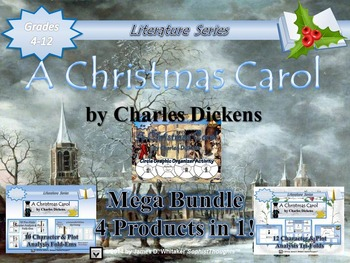 A Christmas Carol by Charles Dickens Mega Activity Bundle