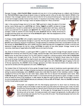 A Christmas Carol by Charles Dickens-Reading Comprehension Vocabulary Worksheet