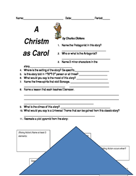 A Christmas Carol by Dickins Viewing/ Reading Questions