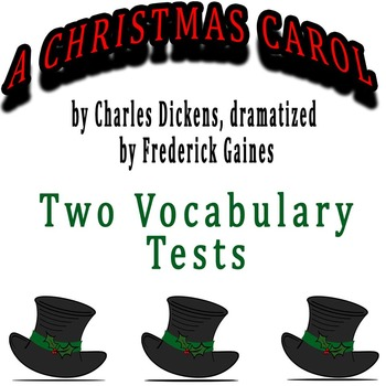 A Christmas Carol dramatized by Frederick Gaines - 2 Vocabulary Tests