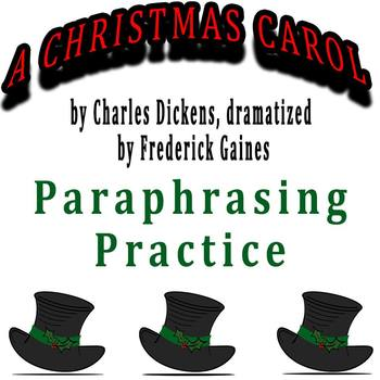 A Christmas Carol dramatized by Frederick Gaines - Paraphr