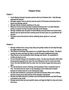 A Christmas Carol - handouts / notes