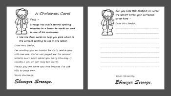 A Christmas Carol (Adapted) literacy activity lesson bundle for spec ed