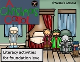 A Christmas Carol (Adapted) literacy activity lesson bundle for spec ed/ESL
