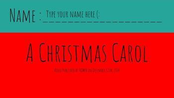 A Christmas Carol reading standards study!