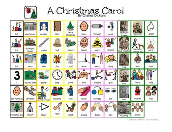 A Christmas Carol visual story board-Special Education, Autism
