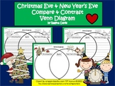 A+ Christmas Eve & New Year's Eve Venn Diagram...Compare and Contrast