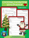 A+ Christmas Handwriting Word Practice